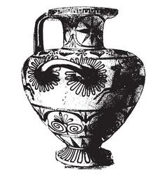 Greek vase is a fully decorated vintage engraving vector