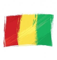 grunge Guinea flag vector image