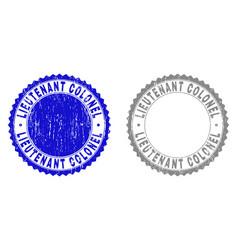 Grunge lieutenant colonel textured watermarks vector