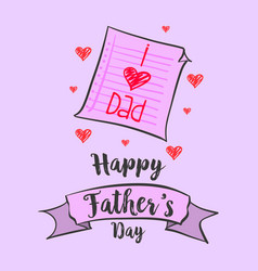 happy father day art vector image vector image