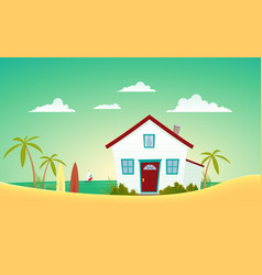 House of the beach vector