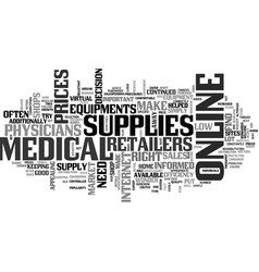 Is online medical retailers right for you text vector