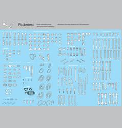 Isometric fasteners vector