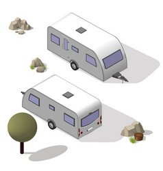 isometric tourist trailer vector image
