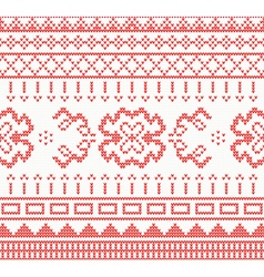 Knitted pattern with ornament vector image