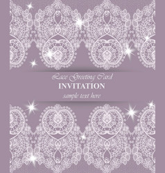 lace card delicate handmade ornament vector image