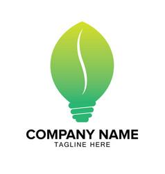 Light bulb logo design vector