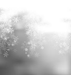 Light Gray Winter Backgruond vector image