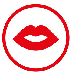 lips rounded icon vector image