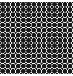 monochrome abstract geometrical halftone dot vector image