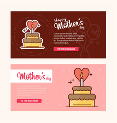 mothers day card with creative logo and pink theme vector image