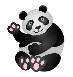 Panda mascot it is sitting and smiling vector