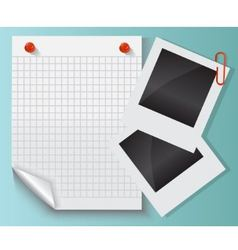 paper photos and clips vector image