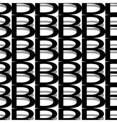Pattern letter b vector
