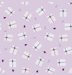 pattern with elements for celebration vector image