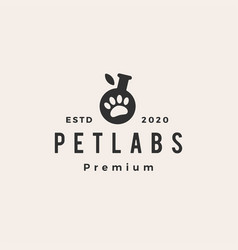 pet lab labs hipster vintage logo icon vector image