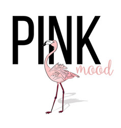 Pink mood flamingo design pink exotic bird vector