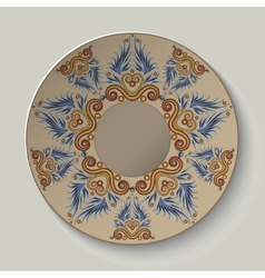Plate with an ornament in the ancient Greek style vector image