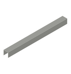 profile plasterboard icon isometric 3d style vector image