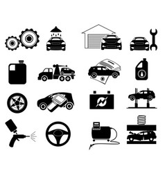 repair service icon set vector image