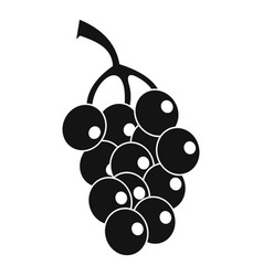 Ripe grape icon simple style vector
