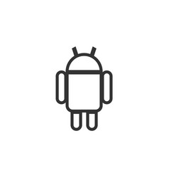 robot icon design template isolated vector image