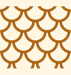Seamless scales made of rope cord marine nautical vector