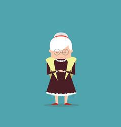 Senior woman grandmother full length lady vector
