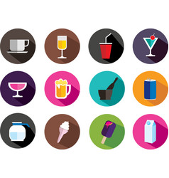 set of drink icon vector image