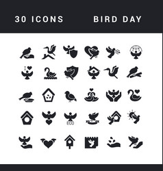 simple icons bird day vector image