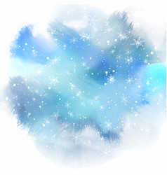 snowflakes on watercolour background vector image