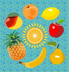Space fruit vector
