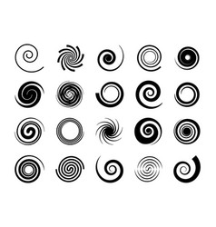 spirals twisted swirl circle twirl and circular vector image