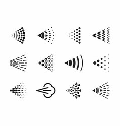 Spray icons set for water perfume paint vector