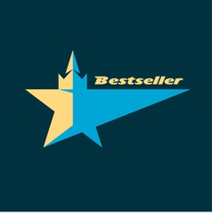 Star logo for the bestsellers vector