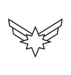 star with wings vector image
