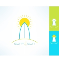 surfing company label logo made in modern vector image