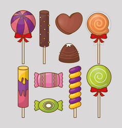sweet candies design vector image