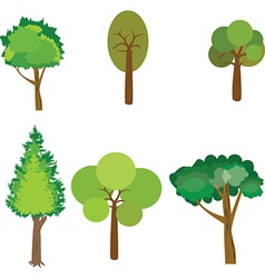 Tree collection of design elements vector image