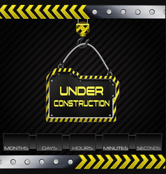 Under construction hanging board vector