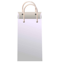 Vertical paper bag vector
