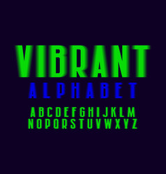 Vibrant alphabet lime green shades artistic font vector