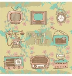 Vintage radios and tvs vector