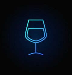 wine glass blue icon vector image