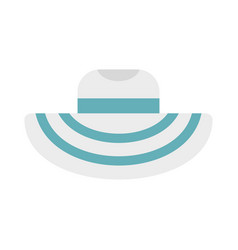 Women beach hat icon flat style vector