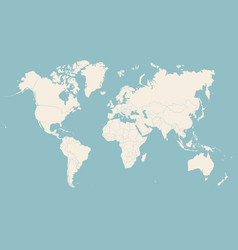 world map silhouette with countries vector image
