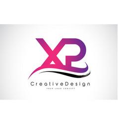 Xp x p letter logo design creative icon modern vector