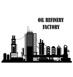 Oil refinery factory vector image