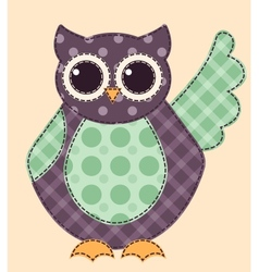 Application owl 1 vector image vector image