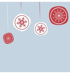 Christmas background with New years ornaments vector image vector image